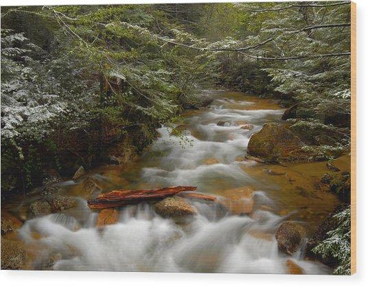 Pemigewasset River In Franconia Notch Wood Print