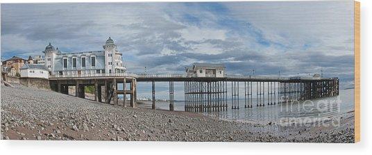 Penarth Pier Panorama 1 Wood Print