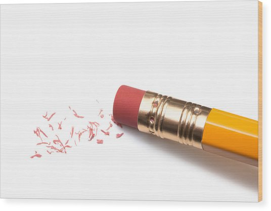 Pencil Eraser Wood Print by T_kimura