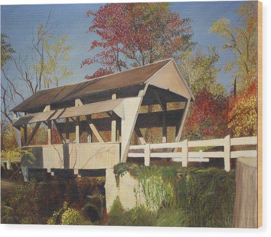 Pennsylvania Covered Bridge Wood Print