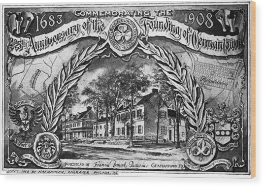 Pennsylvania Germantown Wood Print by Granger