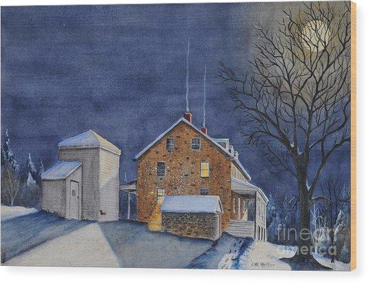 Pennsylvania Moon Wood Print