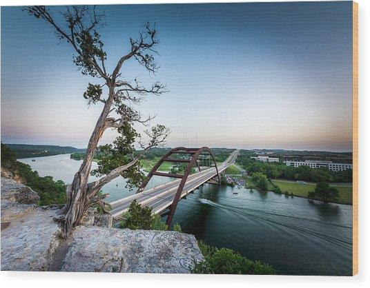 Pennybacker Bridge Austin Wood Print