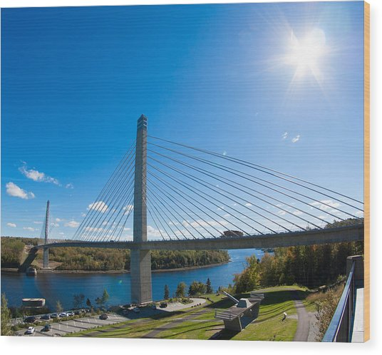 Penobscot Narrows Bridge - Maine Wood Print