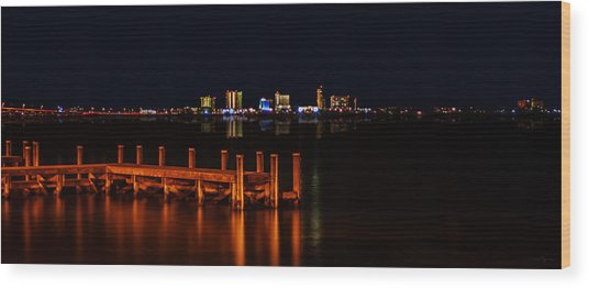 Pensacola Beach Reflections Wood Print
