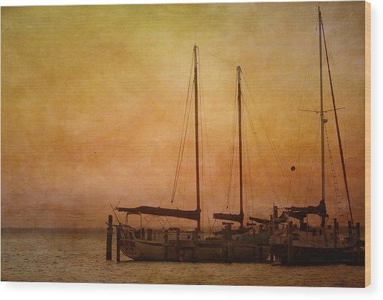 Wood Print featuring the photograph Pensacola Harbor by Kim Hojnacki
