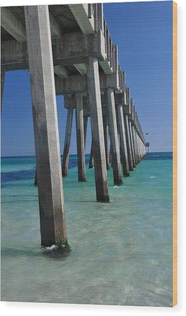 Pensacola Pier Wood Print