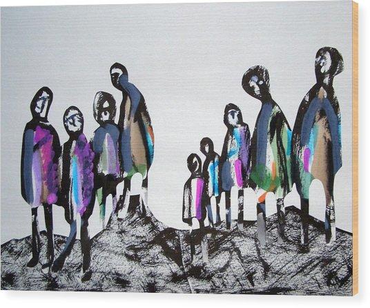 People 120913-3 Wood Print by Aquira Kusume