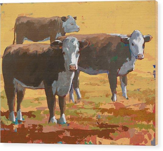 People Like Cows #9 Wood Print