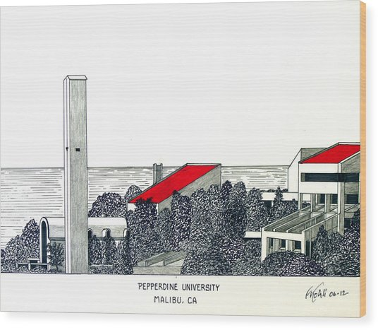 Pepperdine University Wood Print