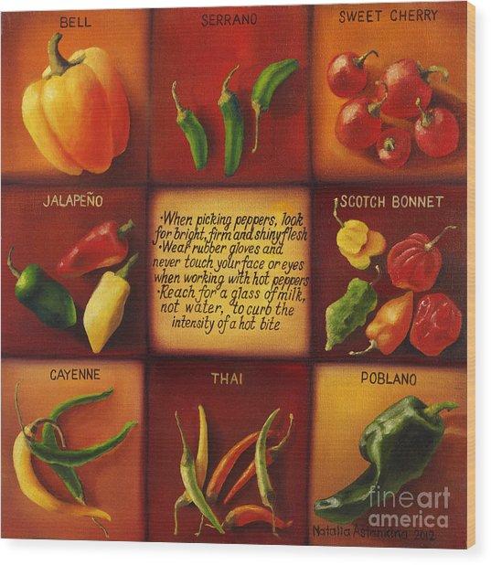 Pepper Facts  Wood Print