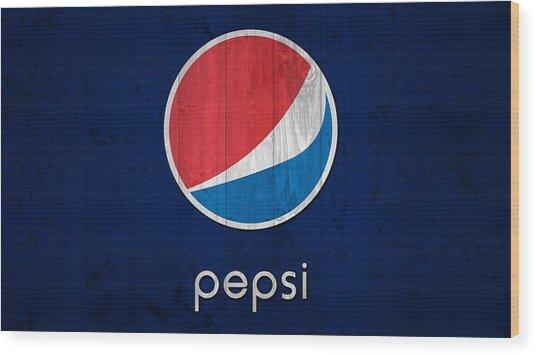 Pepsi Barn Sign Wood Print
