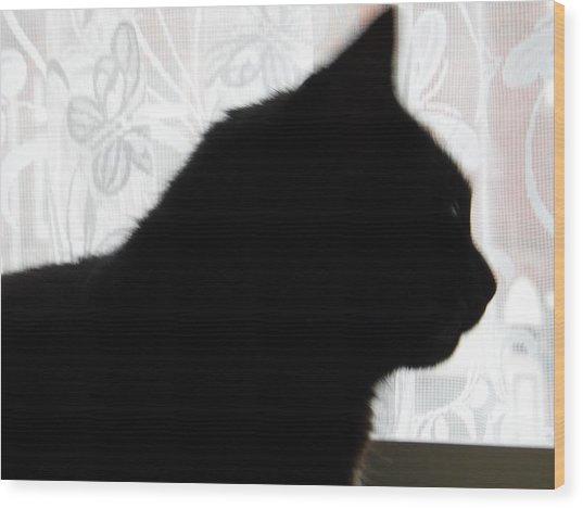 Pepsi Cat Silhouette Wood Print