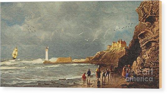 Perch Rock - New Brighton 1829 Wood Print