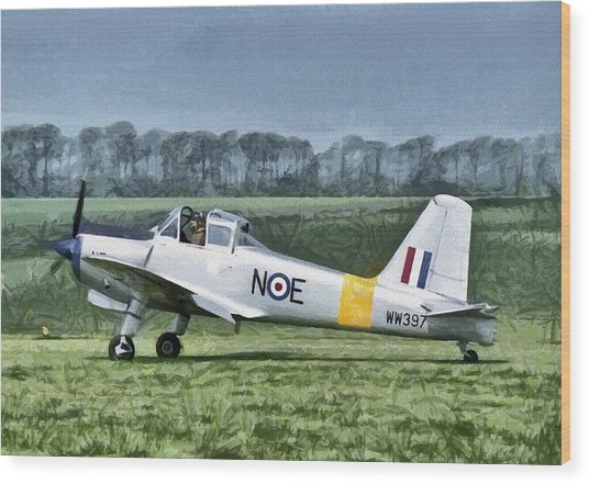 Wood Print featuring the digital art Percival Provost Textured Canvas by Paul Gulliver