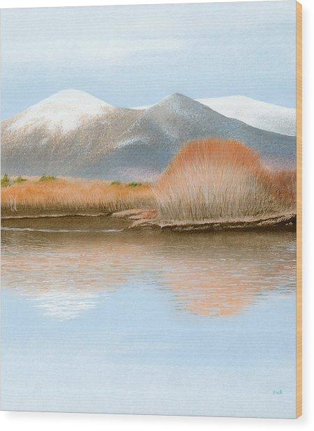 Percy Peaks Wood Print by Bruce Richardson