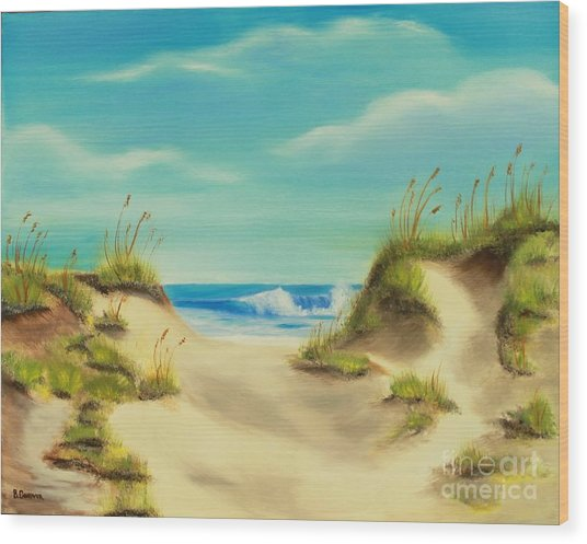 Perfect Beach Day Wood Print