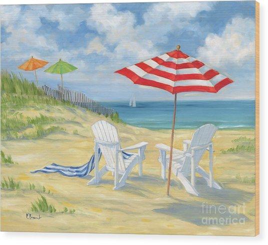 Perfect Beach Wood Print