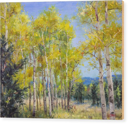 Perfect Day For A Hike Wood Print by Bill Inman