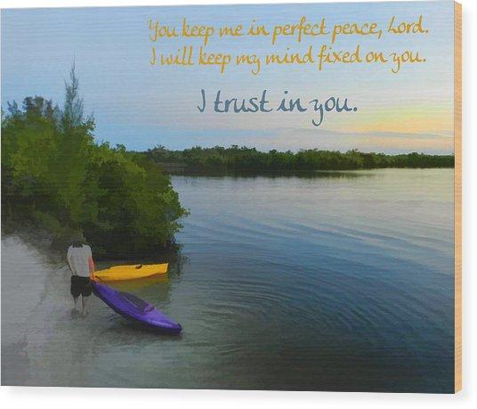 Perfect Peace Wood Print