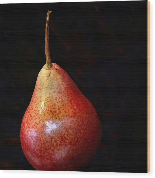 Perfect Pear Wood Print