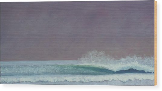 Perfect Wave Wood Print by Kent Pace