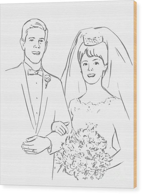 Perfect Wedding Wood Print