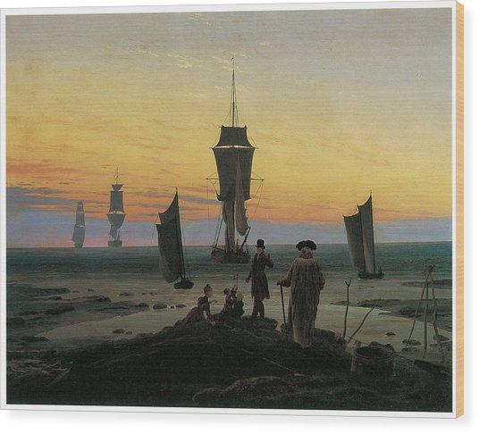 Periods Of Life Wood Print by Caspar David Friedrich