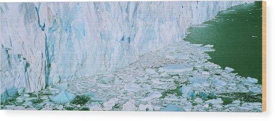 Perito Moreno Glacier In The Los Wood Print by Martin Zwick
