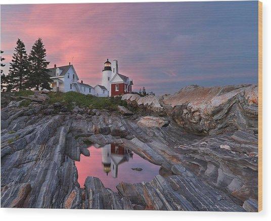 Permaquid Lighthouse Wood Print
