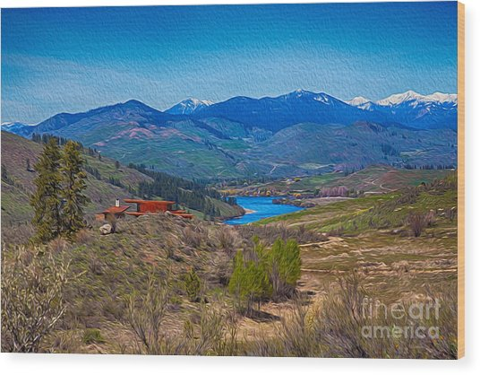 Perrygin Lake In The Methow Valley Landscape Art Wood Print