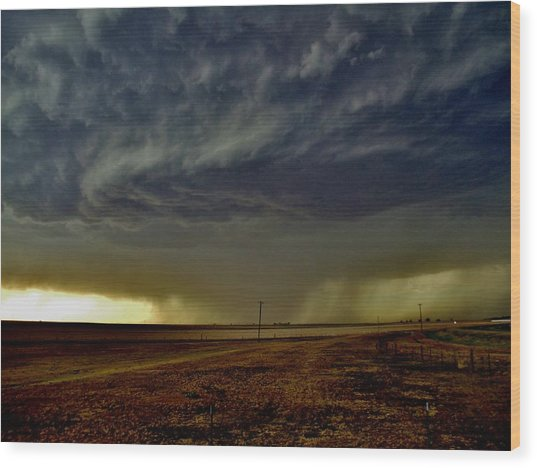 Perryton Supercell Wood Print