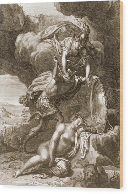 Perseus Cuts Off Medusas Head, 1731 Wood Print