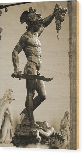 Perseus With The Head Of Medusa Wood Print