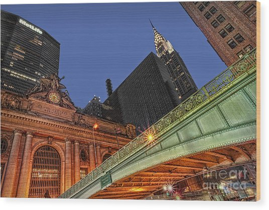 Pershing Square Wood Print