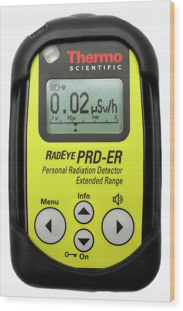 Personal Radiation Detector Wood Print by Public Health England