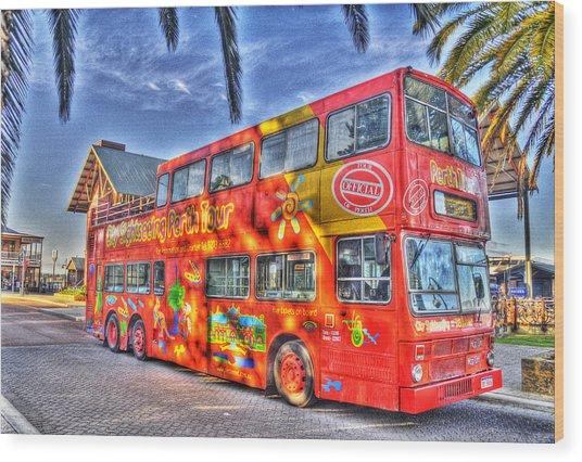 Perth Tour Bus Wood Print