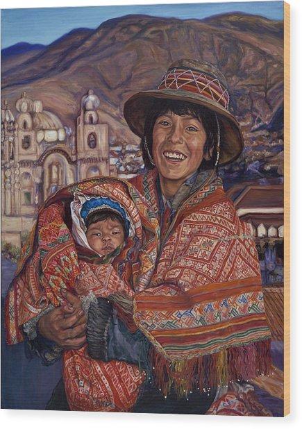 Peruvian Joy Wood Print