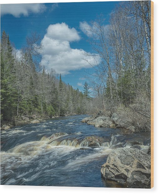 Peshekee Blue Sky Wood Print