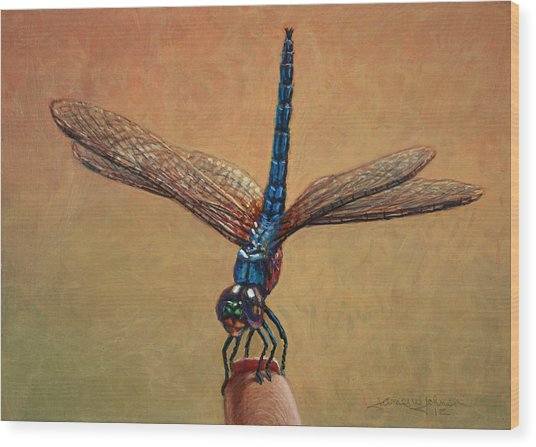 Pet Dragonfly Wood Print