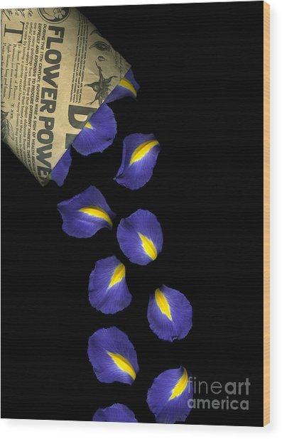 Petal Chips Wood Print