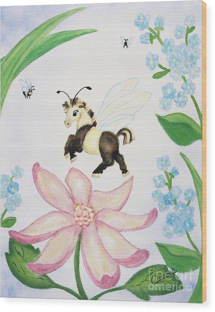 Petal Jumper Wood Print