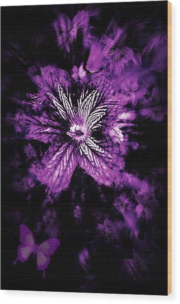 Petals From The Purple Wood Print