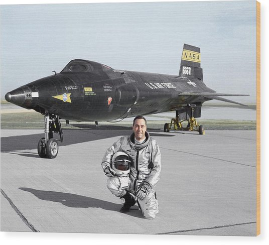 Pete Knight As X-15 Test Pilot Wood Print by Nasa