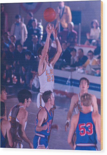 Pete Maravich Releasing Shot Wood Print by Retro Images Archive