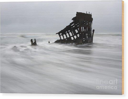 Peter Iredale Shipwreck Oregon 2 Wood Print