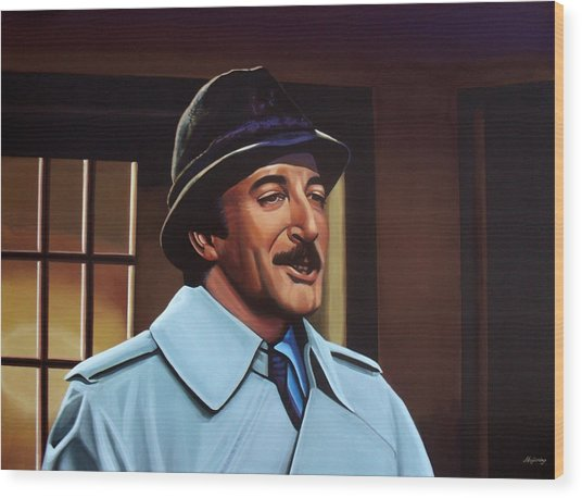Peter Sellers As Inspector Clouseau  Wood Print