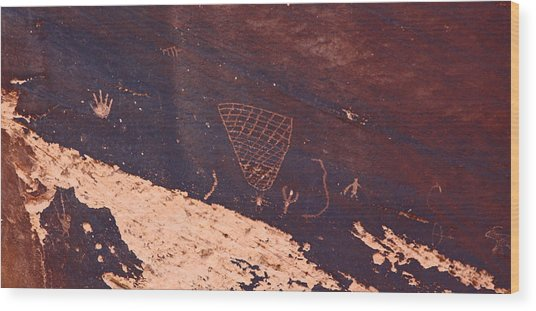 Petroglyphs In Utah Wood Print