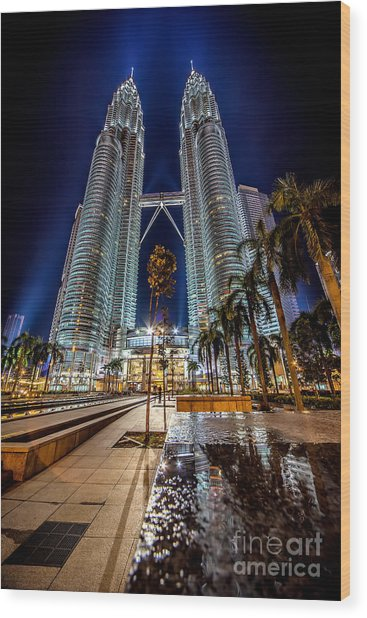 Petronas Twin Towers Wood Print