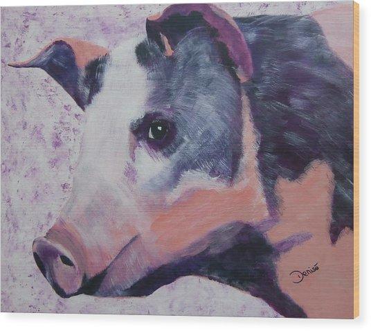 Petunia Pig Wood Print